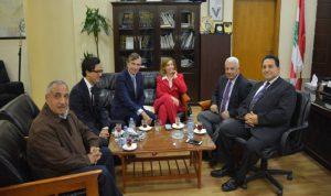 قمر الدين عرض مع وفد فرنسي حلاً مستداماً لمشكلة النفايات في طرابلس