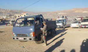 مغادرة دفعة جديدة من النازحين في عرسال ومخيماتها الى سوريا