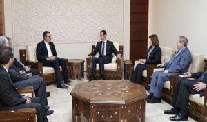 الاسد بحث مع أنصارى في تشكيل لجنة مناقشة الدستور الحالي
