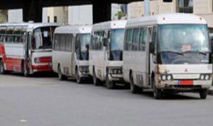 إشكال بين سائقي باصات تحت جسر عمشيت