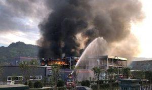 بالفيديو والصور: قتلى وجرحى بانفجار في مصنع بالصين