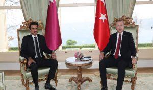 أردوغان يعقد اجتماعا مغلقا مع أمير قطر
