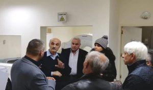 سمير وستريدا جعجع في مستشفى بشري