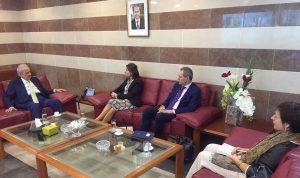 حماده يبحث مع سفيرة الاتحاد الاوروبي في المشاريع التربوية