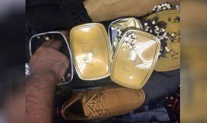 """حبوب """"كبتاغون"""" داخل علب الشاي في مطار بيروت!"""