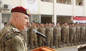 قائد الجيش للتلامذة الضباط: الطريق أمامكم مليئة بالصعوبات
