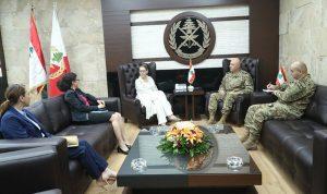 قائد الجيش عرض وكاردل الاوضاع في لبنان