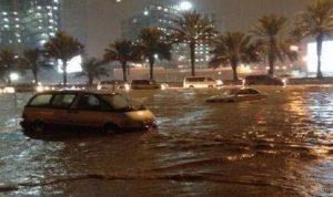 وفاة شخص جراء سيول الكويت