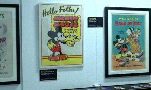 ملصقات إعلانية نادرة لـMickey Mouse في مزاد بلندن