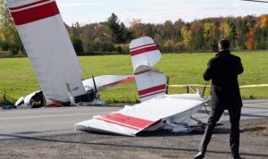 اصطدام طائرتين في سماء كندا.. وتحطم إحداهما