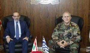 الصراف استقبل رئيس هيئة أركان الدفاع اليوناني