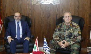 الصراف بحث مع رئيس هيئة أركان الدفاع اليوناني علاقات التعاون