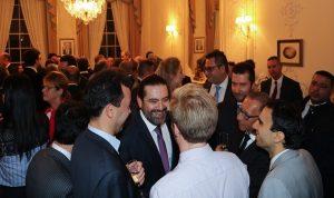 الحريري يحضر حفل استقبال اقامه سفير لبنان في لندن