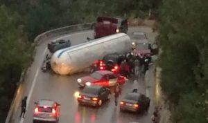 جريح بحادث سير مروّع على طريق دميت-ملتقى النهرين