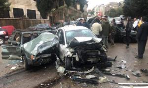 5 جرحى في حادث سير على طريق عام عجلتون