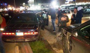4 جرحى بحادثي سير على أوتوستراد الضبية وجسر النقاش