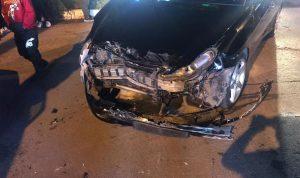 جريح في حادث سير على طريق كوسبا