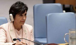الممثلة الدائمة للبنان لدى الأمم المتحدة: للالتزام بالقرار 1701