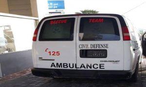 جريح اثر حادث سير في صور