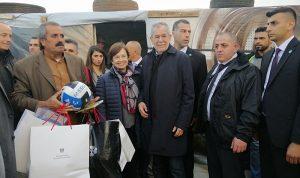 رئيس النمسا تفقد مخيما للنازحين السوريين في البقاع