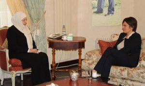 الحريري عرضت مع سفيرة كندا العلاقات الثنائية