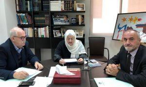 بهية الحريري بحثت في الشأن التربوي مع نقيب المعلمين