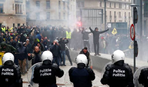 تظاهرات في بلجيكا احتجاجًا على قانون الهجرة