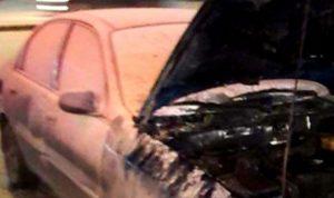 إخماد حريق داخل سيارة في زوق مصبح