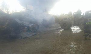 حريق سيارة في تعنايل