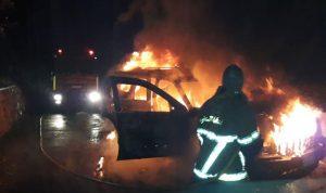 حريق سيارة في جبيل