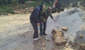 بسبب السيول.. انهيارات تقطع طريق إيزال كفرحبو في الضنية