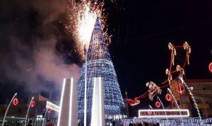 بلدية جديدة الجومة أضاءت أكبر شجرة ميلادية في عكار