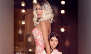 كيف عايدت مايا دياب ابنتها؟