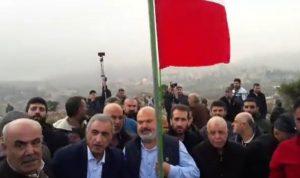 وقفة احتجاجية في خراج ميس الجبل استنكارا للاعمال الإسرائيلية