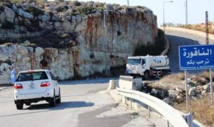 زورق حربي اسرائيلي خرق المياه الاقليمية مقابل الناقورة