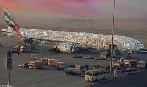 ما حقيقة الطائرة الإماراتية المرصعة بالألماس؟