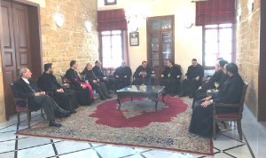 السفير البابوي زار مطرانيتي الروم الكاثوليك والموارنة