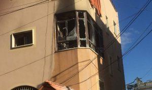 بالصور: حريق داخل شقة سكنية في قانا