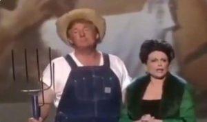 بالفيديو: ترامب يرقص بملابس المزارعين