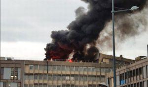 بالفيديو والصور: انفجار ضخم يهز جامعة ليون الفرنسية
