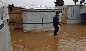 السيول تجتاح 3 مخيمات للاجئين في عكار
