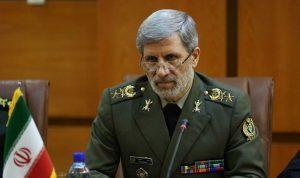 وزير الدفاع الإيراني: ردّنا سيكون حاسما ضد أي اعتداء يستهدف أمننا القومي