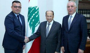 عون: التعاون بين لبنان وصربيايساهم بتطوير القطاع الزراعي