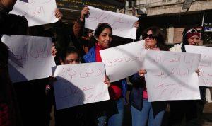 اعتصام في بعلبك احتجاجا على منافسة اليد العاملة السورية