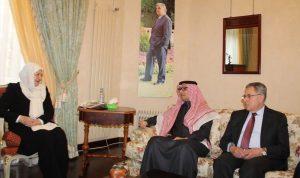 بهية الحريري عرضت مع السفير السعودي العلاقات الثنائية