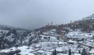 الثلوج غطّت معظم بلدات قضاء بشري