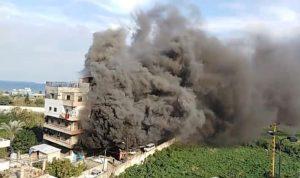 حريق مستودع للمازوت في البداوي