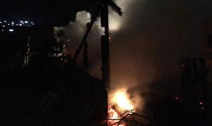 حريق داخل خيمة لعمال سوريين في قب الياس