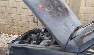 إخماد حريق سيارة في الكورة