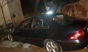 حريق داخل سيارة في الفنار